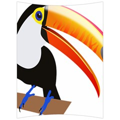 Cute Toucan Bird Cartoon Fly Back Support Cushion by Mariart