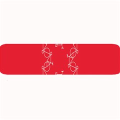 Cycles Bike White Red Sport Large Bar Mats by Mariart