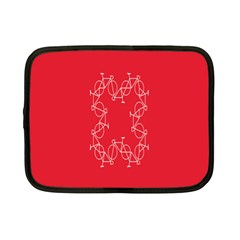 Cycles Bike White Red Sport Netbook Case (small)  by Mariart