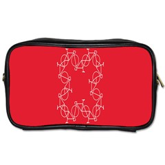 Cycles Bike White Red Sport Toiletries Bags by Mariart