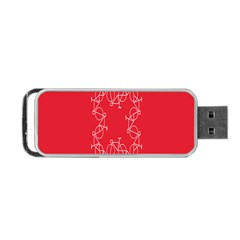 Cycles Bike White Red Sport Portable Usb Flash (one Side) by Mariart