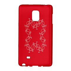 Cycles Bike White Red Sport Galaxy Note Edge by Mariart