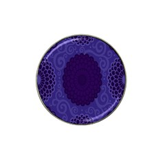Flower Floral Sunflower Blue Purple Leaf Wave Chevron Beauty Sexy Hat Clip Ball Marker (10 Pack) by Mariart