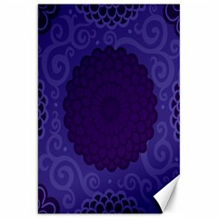 Flower Floral Sunflower Blue Purple Leaf Wave Chevron Beauty Sexy Canvas 20  X 30   by Mariart