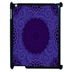 Flower Floral Sunflower Blue Purple Leaf Wave Chevron Beauty Sexy Apple Ipad 2 Case (black) by Mariart
