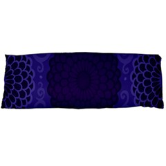 Flower Floral Sunflower Blue Purple Leaf Wave Chevron Beauty Sexy Body Pillow Case (dakimakura) by Mariart