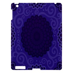 Flower Floral Sunflower Blue Purple Leaf Wave Chevron Beauty Sexy Apple Ipad 3/4 Hardshell Case by Mariart