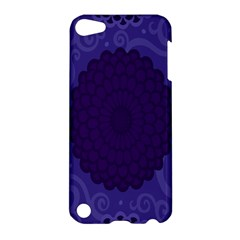 Flower Floral Sunflower Blue Purple Leaf Wave Chevron Beauty Sexy Apple Ipod Touch 5 Hardshell Case by Mariart