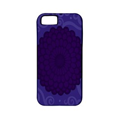 Flower Floral Sunflower Blue Purple Leaf Wave Chevron Beauty Sexy Apple Iphone 5 Classic Hardshell Case (pc+silicone) by Mariart