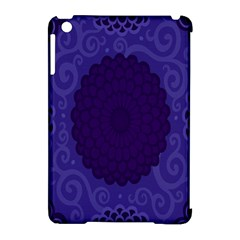 Flower Floral Sunflower Blue Purple Leaf Wave Chevron Beauty Sexy Apple Ipad Mini Hardshell Case (compatible With Smart Cover) by Mariart