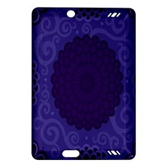 Flower Floral Sunflower Blue Purple Leaf Wave Chevron Beauty Sexy Amazon Kindle Fire Hd (2013) Hardshell Case by Mariart