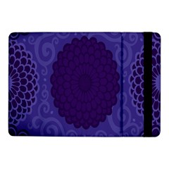 Flower Floral Sunflower Blue Purple Leaf Wave Chevron Beauty Sexy Samsung Galaxy Tab Pro 10 1  Flip Case by Mariart
