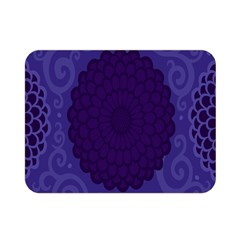 Flower Floral Sunflower Blue Purple Leaf Wave Chevron Beauty Sexy Double Sided Flano Blanket (mini)  by Mariart