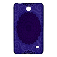 Flower Floral Sunflower Blue Purple Leaf Wave Chevron Beauty Sexy Samsung Galaxy Tab 4 (8 ) Hardshell Case  by Mariart