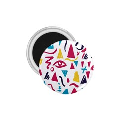 Eye Triangle Wave Chevron Red Yellow Blue 1 75  Magnets by Mariart