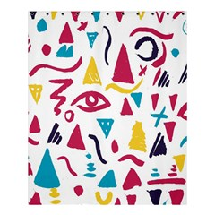 Eye Triangle Wave Chevron Red Yellow Blue Shower Curtain 60  X 72  (medium)  by Mariart