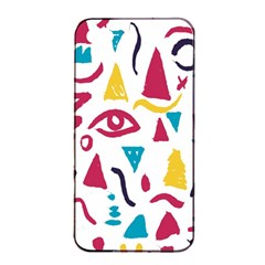Eye Triangle Wave Chevron Red Yellow Blue Apple Iphone 4/4s Seamless Case (black) by Mariart