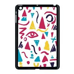 Eye Triangle Wave Chevron Red Yellow Blue Apple Ipad Mini Case (black) by Mariart