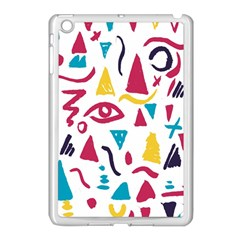 Eye Triangle Wave Chevron Red Yellow Blue Apple Ipad Mini Case (white) by Mariart