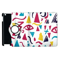 Eye Triangle Wave Chevron Red Yellow Blue Apple Ipad 2 Flip 360 Case by Mariart