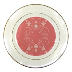 Flower Floral Leaf Pink Star Sunflower Porcelain Plates by Mariart
