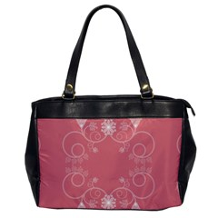 Flower Floral Leaf Pink Star Sunflower Office Handbags by Mariart