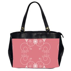 Flower Floral Leaf Pink Star Sunflower Office Handbags (2 Sides)  by Mariart