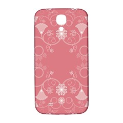 Flower Floral Leaf Pink Star Sunflower Samsung Galaxy S4 I9500/i9505  Hardshell Back Case by Mariart