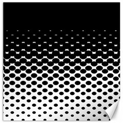 Gradient Circle Round Black Polka Canvas 12  X 12   by Mariart
