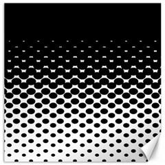 Gradient Circle Round Black Polka Canvas 20  X 20   by Mariart