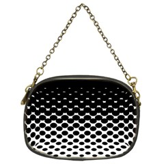 Gradient Circle Round Black Polka Chain Purses (two Sides)  by Mariart