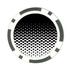 Gradient Circle Round Black Polka Poker Chip Card Guard (10 Pack) by Mariart