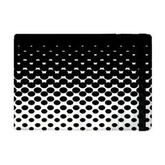 Gradient Circle Round Black Polka Apple Ipad Mini Flip Case by Mariart
