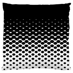 Gradient Circle Round Black Polka Standard Flano Cushion Case (one Side) by Mariart