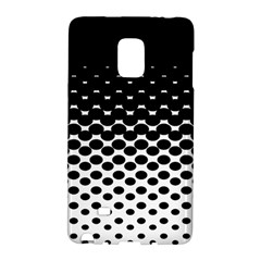 Gradient Circle Round Black Polka Galaxy Note Edge by Mariart