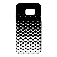 Gradient Circle Round Black Polka Samsung Galaxy S7 Hardshell Case  by Mariart