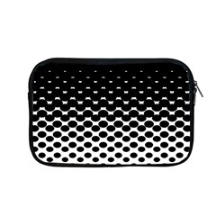 Gradient Circle Round Black Polka Apple Macbook Pro 13  Zipper Case by Mariart