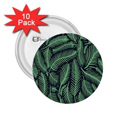 Coconut Leaves Summer Green 2 25  Buttons (10 Pack)  by Mariart