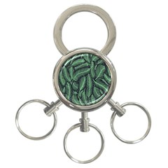 Coconut Leaves Summer Green 3 Ring Key Chains by Mariart