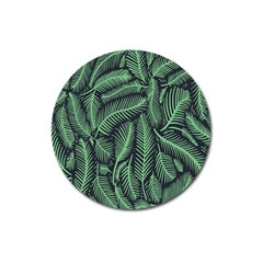 Coconut Leaves Summer Green Magnet 3  (round) by Mariart