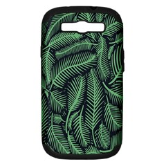 Coconut Leaves Summer Green Samsung Galaxy S Iii Hardshell Case (pc+silicone) by Mariart