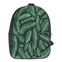 Coconut Leaves Summer Green School Bag (xl) by Mariart