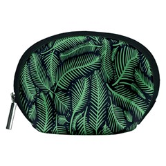 Coconut Leaves Summer Green Accessory Pouches (medium)  by Mariart