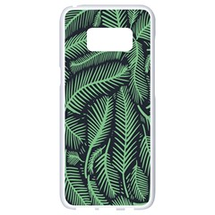 Coconut Leaves Summer Green Samsung Galaxy S8 White Seamless Case by Mariart