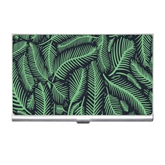 Coconut Leaves Summer Green Business Card Holders by Mariart