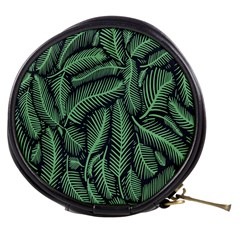 Coconut Leaves Summer Green Mini Makeup Bags by Mariart