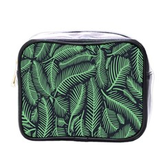 Coconut Leaves Summer Green Mini Toiletries Bags