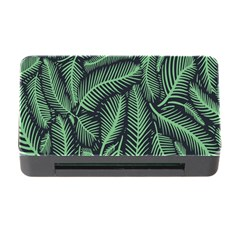 Coconut Leaves Summer Green Memory Card Reader With Cf by Mariart