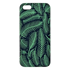 Coconut Leaves Summer Green Apple Iphone 5 Premium Hardshell Case by Mariart