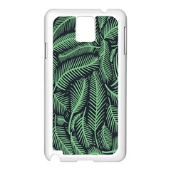 Coconut Leaves Summer Green Samsung Galaxy Note 3 N9005 Case (white) by Mariart